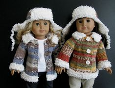 Duck Dynasty A LaRusse Jacket & Hat AG American Girl 18 inch doll Knitting pattern (054)