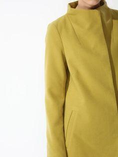 Damski płaszcz Top Secret z kolekcji wiosna 2017 light green coat Turtle Neck, Sweatshirts, Model, Sweaters, Top, Fashion, Moda, Fashion Styles, Sweater