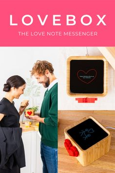 """The Lovebox is a connected, messaging device that pairs with an app to go beyond regular communication and deliver special expressions of affection. ❤️😍 The Loveliest Valentine's Gift Ever! """"My boyfriend is in Australia for the next 6 months. The Lovebox has made it so easy for us to communicate through time zones and keep each other close to our hearts all the while enjoying our time in our respective places."""" - Kelly Paper Wedding Anniversary Gift, Wedding Paper, Cute Valentines Day Ideas, Valentine Day Gifts, Bf Gifts, Boyfriend Gifts, Couple Things, Couple Gifts, Diy Crafts To Do"""