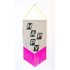 Image of HAPPY pennant wall art