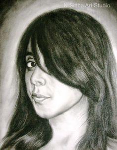 Drybrush Pencil Sketch & Portrait Artist in Delhi NCR Pencil Sketch Portrait, Portrait Sketches, Professional Portrait, Best Portraits, Delhi Ncr, Dry Brushing, Art Studios, Charcoal, Oil