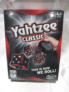 Yahtzee Classic 00950 2012 Edition Factory Sealed Made in USA Free Shipping #Hasbro