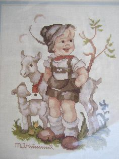 See Sally Sew-Patterns For Less - The Little Goat Herder M.J. Hummel Cross Stitch Chart Needle Treasures Design 02678 , $8.00 (http://stores.seesallysew.com/the-little-goat-herder-m-j-hummel-cross-stitch-chart-needle-treasures-design-02678/)