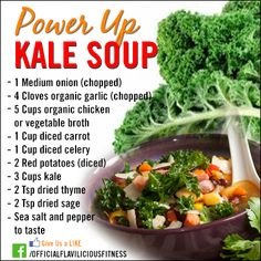 Its that time of year! Its getting colder which means you want to make things that will help you stay warmer. This #KaleSoup will warm you up AND keep your health top notch. Get more recipes: www.flaviliciousfitness.com
