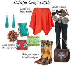 Colorful Cowgirl Style by Raquel of Horses & Heels at Velvet Rider!