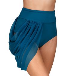 Double Platinum Adult Emballe High Waist Mesh Drape Brief