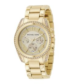 "Michael Kors ""Blair"" Champagne-Dial Chronograph Watch   Dillards.com"