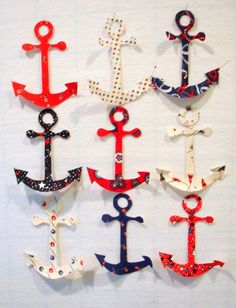 Anchors Iron On Appliques by zizzybob on Etsy