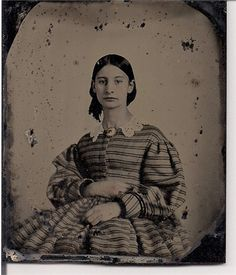 Alice Ann Winn (1840-1901); Printed from a glass plate daguerreotype before her mariage in 1865 to Tyler Macon Peeples.