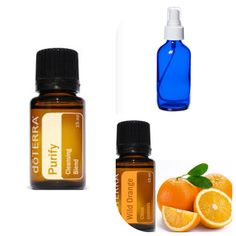 Such an easy Non-Toxic room spray and it works better then any Store Bought! What you Need: 4 oz spray bottle 20 drops doTERRA Purify 15 drops doTERRA Wild Orange Fill with water Thats it! So easy to make :)
