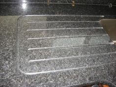integrated drain board in granite with runnels.