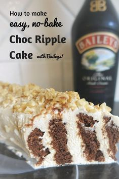 This Chocolate Ripple Cake Recipe is perfect for those who want to impress with minimum effort. There's absolutely no baking involved! And provided you plan ahead a little (it needs at least 6 hours standing time in the fridge) this is a simple, versatile Best Christmas Recipes, Christmas Desserts, Christmas Cakes, Christmas Treats, Xmas Food, Christmas Cooking, Choc Ripple Cake, Easy Desserts, Dessert Recipes