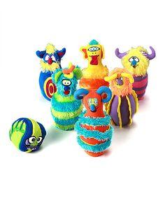 Another great find on #zulily! Melissa & Doug Monster Bowling Set #zulilyfinds