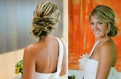 Hair styles with one-strap dress :  wedding hair hairstyles style Side