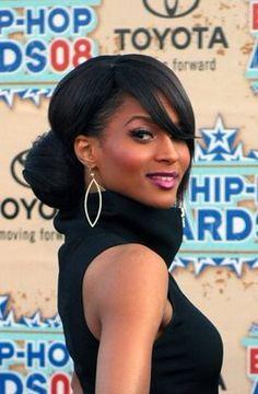 African American Wedding Hairstyles & Hairdos: Ciara's Chignon
