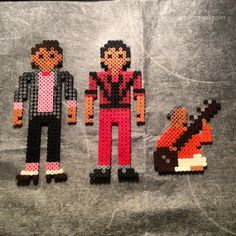 Michael Jackson Billie Jean and Thriller perler beads by helmerthefreak