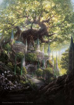 Temple Garden Promo by Magic: The Gathering by Alayna on DeviantArt - . - Temple Garden Promo by Magic: The Gathering by Alayna on DeviantArt – - Fantasy Artwork, Fantasy Art Landscapes, Fantasy Concept Art, Fantasy Landscape, Landscape Art, Fantasy Garden, Fantasy Drawings, Garden Art, Garden Cottage