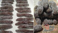 Čokoládové válečky obalené ve vanilkovém cukru