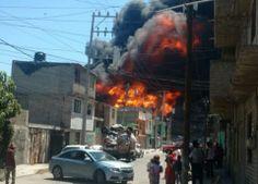 Se registra fuerte incendio en el Edomex