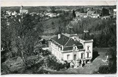 Frankreich - CPSM - CAZAUBON - CHATEAU DE MOUTIQUES - VUE EN AVION (RARE)