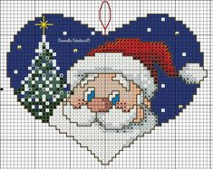 17 Attractive Recommendations For Santa Cross Stitch, Cross Stitch Alphabet, Cross Stitch Charts, Counted Cross Stitch Patterns, Cross Stitch Embroidery, Cross Stitch Christmas Ornaments, Christmas Cross, Modern Cross Stitch Patterns, Cross Stitch Designs