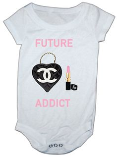 Chanel Addict Inspired baby onesie by LuluBellababyTrends on Etsy, $16.99