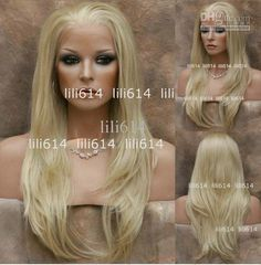 Wholesale 20 color 613 Lace Front wig Straight Long Blonde wig hot sale, Free shipping, $47.03-66.12/Piece | DHgate   66$