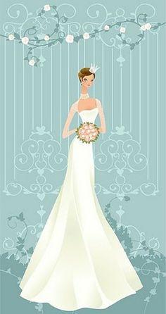 Wedding Cards Images Vintage Free Art Couples Bride Illustration Bridal Style