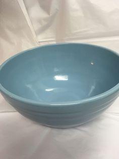 Large Ceramic Blue Biscuit Bowl | eBay