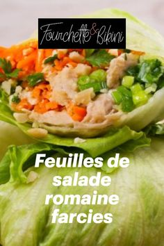 Découvrez notre recette de feuilles de salade romaine farcies ! Chicken Schnitzel, Salads, Healthy Eating Recipes, Healthy Recipes, Romaine Salad, Leaves, Greedy People