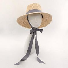 Bucket Hat Summer Beach Sun Hats s with Ribbon Tie. Chapéus De PalhaChapéus  ... 7d55125d518