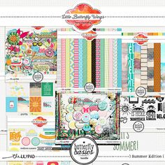 Butterfly Basics - Summer Edition {Bundle} by Little Butterfly Wings. #CTproduct #summer #digiscrap