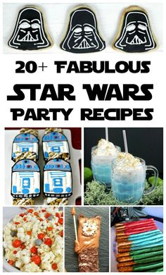 Whether you're a rogue leader or a member of the dark side, you're going to love these awesome Star Wars party recipes! There are over 20 favorites here.