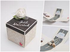 #Geldgeschenk #Hochzeit Mit dieser Box, können Sie dem Brautpaar ganz besondere Blechdosen ans Auto hängen.