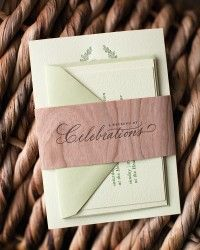 Rustic Burlap Wedding Invitations by Atheneum Creative via Oh So Beautiful Paper (6)