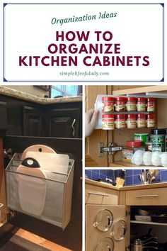 practical tips for organizing kitchen cabinet Bedroom Organization Diy, Kitchen Cabinet Organization, Garage Organization, Organizing, Kitchen Cabinets, Smart Storage, Storage Ideas, Diy Garage, Diy Kitchen