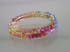 All listed items in my etsy shop are 12% off using coupon code AMERICA City Girl loves a Rainbow...Sapphire Amethyst Ruby etc. Gold filled Gemstone rimmed hoops.  You see these everywhere now, but it is my original design......bellajewelsII, 210.00