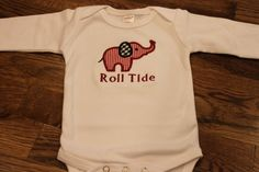 Roll Tide Onesie by SwankyStitchesbyR on Etsy, $15.00