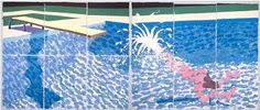 david hockney water paintings -