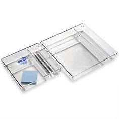 The Container Store  Linus™ 3-Section Drawer Organizers