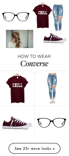 Untitled  353 by aylaakayy on Polyvore featuring Converse 340237b88