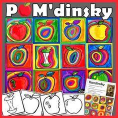 Voici le projet idéal pour la rentrée scolaire. POM'dinsky ! Avec ce projet, vos élèves créeront une œuvre à la manière de Kandinsky. En les affichant en collectif, vous aurez un magnifique visuel coloré. Le matériel est simple. Des modèles de pommes sont aussi inclus.