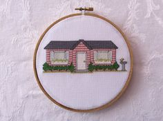 PDF Pattern: Little Pink House cozy cottage by TheCompassNeedle