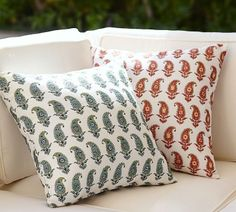 Pottery Barn Kaylee Bhotah Indoor/Outdoor Pillow on shopstyle.com
