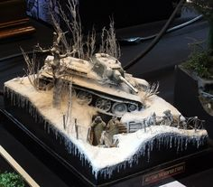 A cool Diorama of a plastic model kit with some great detail @ http://www.hobbylinc.com/plastic-models