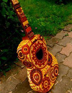 Mosaic guitar by Itsatreasure on Etsy