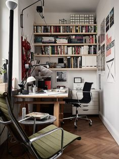 Small Home Offices, Home Office Space, Home Office Desks, Office Furniture, Office Decor, Small Office, Office Ideas, Interior Design Inspiration, Home Interior Design