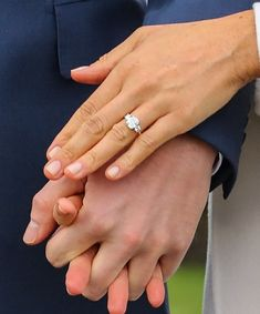 Meghan Markle's engagement ring from Prince Harry: Her engagement ring was made from three diamonds: two diamonds from Diana's personal collection, and one diamond from Botswana.