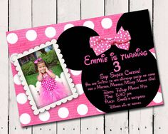 minnie mouse free invitation templates | Printable Minnie Mouse Party Invitations