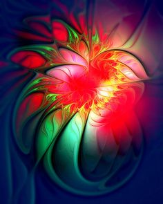© Cyclamen / Fractal art by Amanda Moore